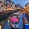Каналы Милана - прогулка на катере по Гранд Каналу (фото 1)